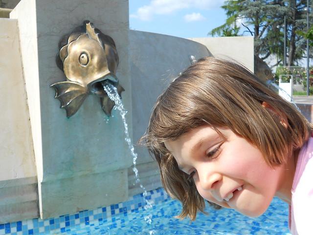 pesce zampillante e dentoni