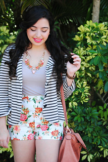 spring floral and stripes