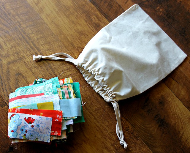 Making Fabric Scrap Bag!