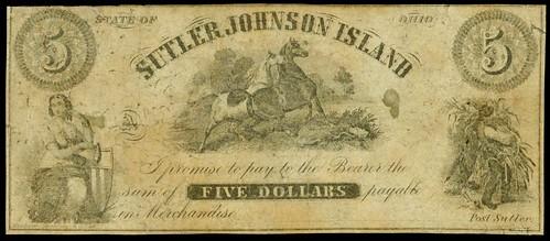 Johnson Island, Ohio POW Camp Sutler Note