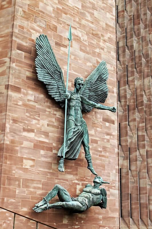 angel devil sculpture