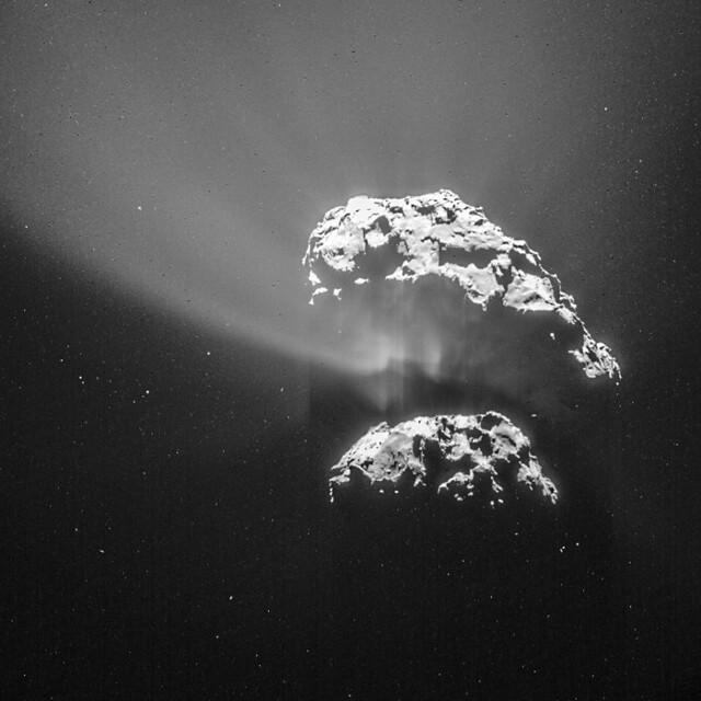 Comet 67P on 9 February 2015 - NAVCAM