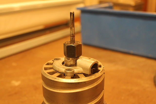 Router bit in collet