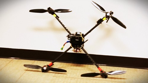 The @Agribotix quad.  Great discussion today.