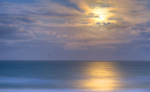 ocean moon florida fullmoon moonrise hdr indialantic tonemapped