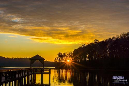 sky lake reflection nature water clouds sunrise georgia pier unitedstates lanier dawsonville lakelanier dawsoncounty thesussman warhillpark sonyslta77 sussmanimaging 52in2015secondphoto