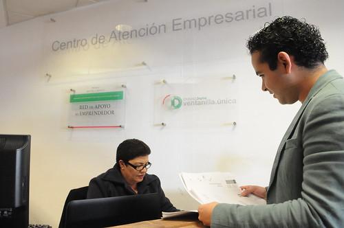 Emprendedores locales acuden de forma regula al centro de atención al empresario