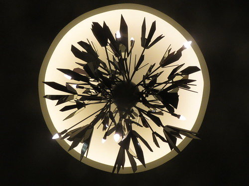 Abstract Leaf Lamp