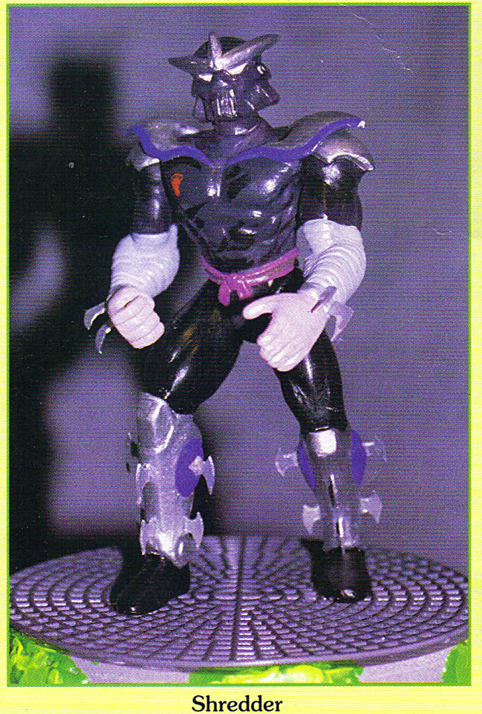 """Tomart's Action Figure Digest #xx :: pgs.26, 27 TOY FAIR '97, PLAYMATES """"NINJA TURTLES: THE NEXT MUTATION / ..early """"VADER-esque"""" 'SHREDDER'  (( April 1997 )) by tOkKa"""