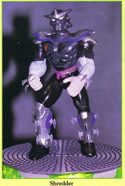 "Tomart's Action Figure Digest #xx :: pgs.26, 27 TOY FAIR '97, PLAYMATES ""NINJA TURTLES: THE NEXT MUTATION / ..early ""VADER-esque"" 'SHREDDER'  (( April 1997 ))"