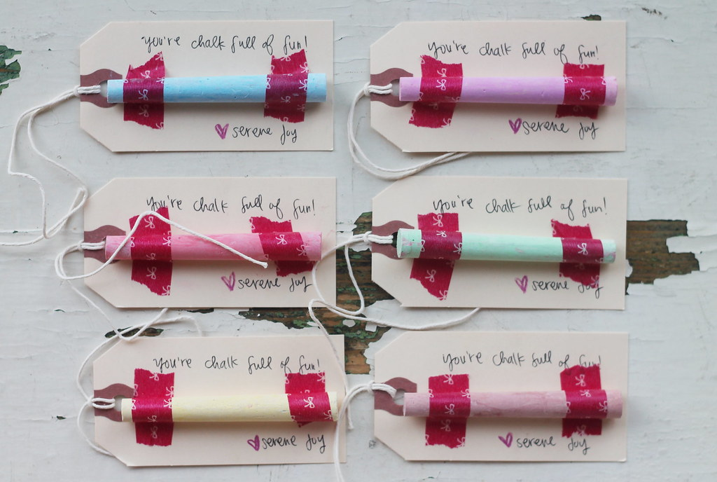 chalk full of love valentine