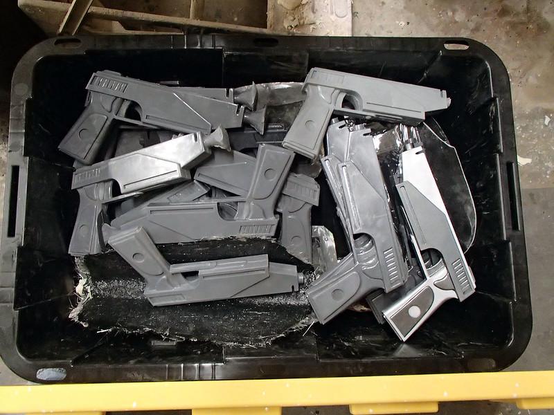 Stack of Blaster Pistol Castings