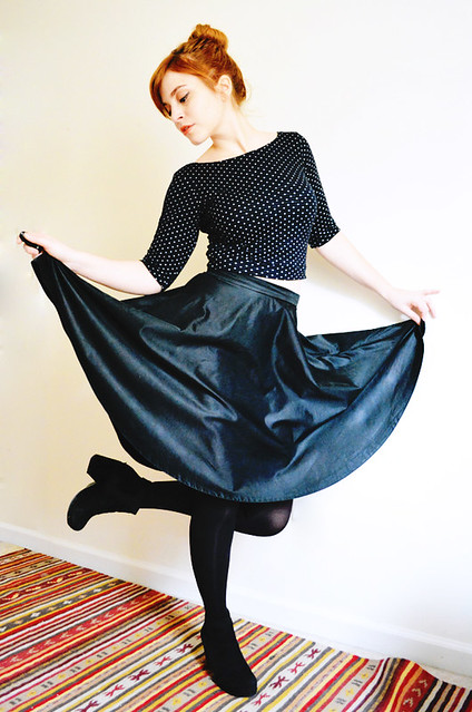 Moneta Crop Top + 3/4 Circle Skirt