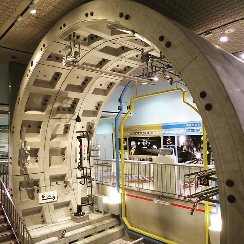 地下鉄のトンネル展示。 #地下鉄博物館