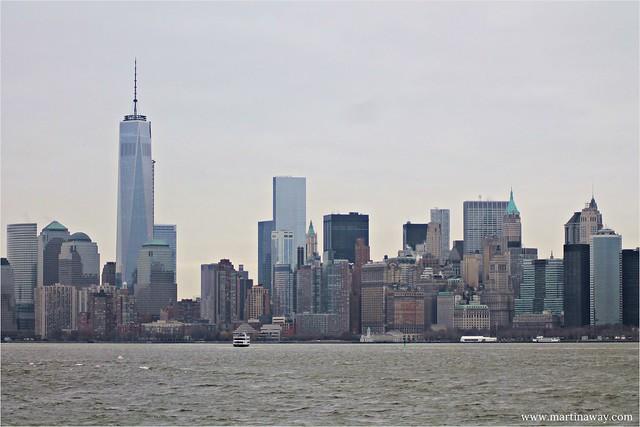 Manhattan from Liberty Island