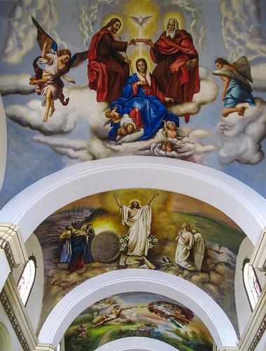 Trujillo: le plafond de l'allée centrale de la Cathédrale