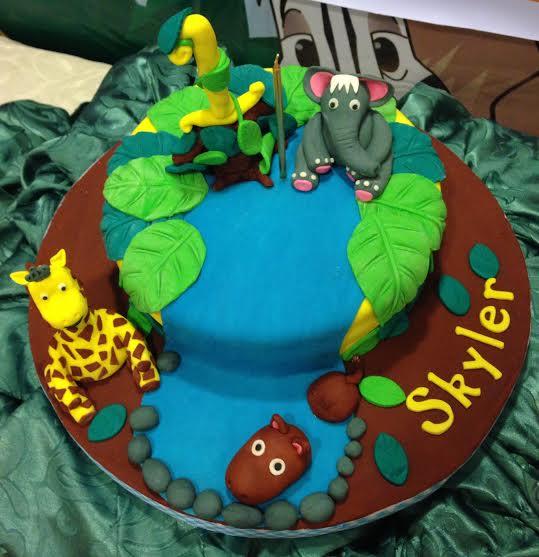 Safari Themed Cake by Aurora Annabelle Gomez