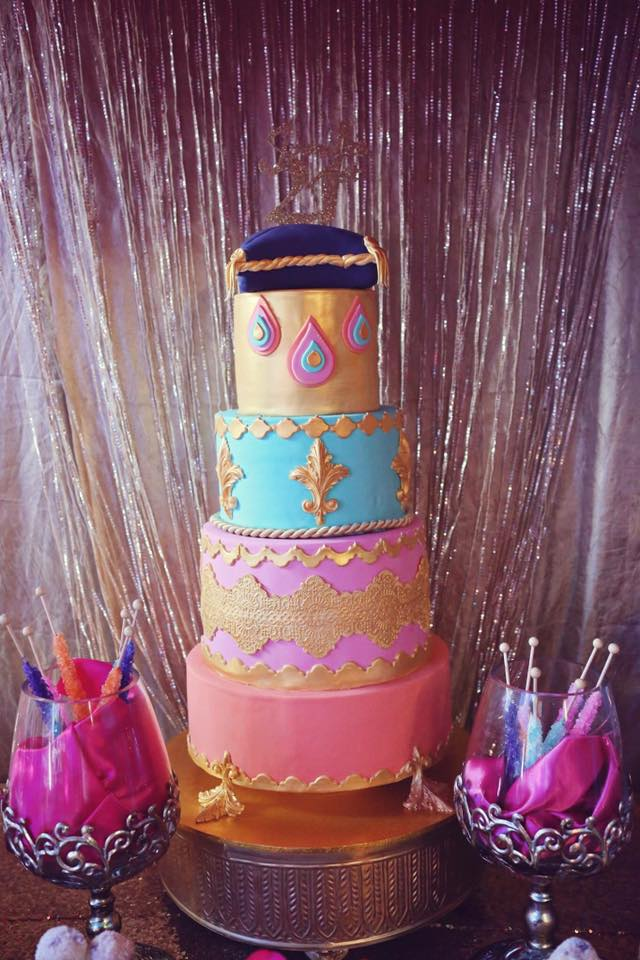 Arabian Nights Themed Cake by Janelle Jasmine Halil