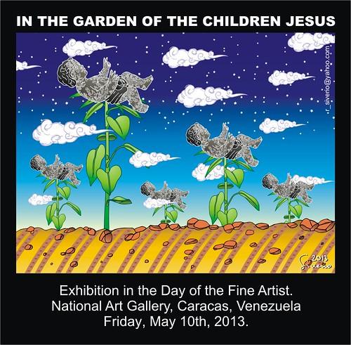In the garden of The Children Jesus (En el jardín de Los Niños Jesús) by Ramón Siverio