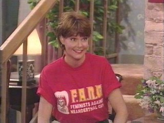 """Married...with Children""'s Marcy D'Arcy in a feminist t-shirt"