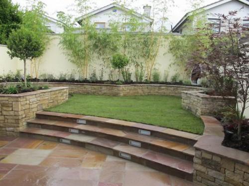 Rock wall design ideas parsons rocks for Split level garden designs