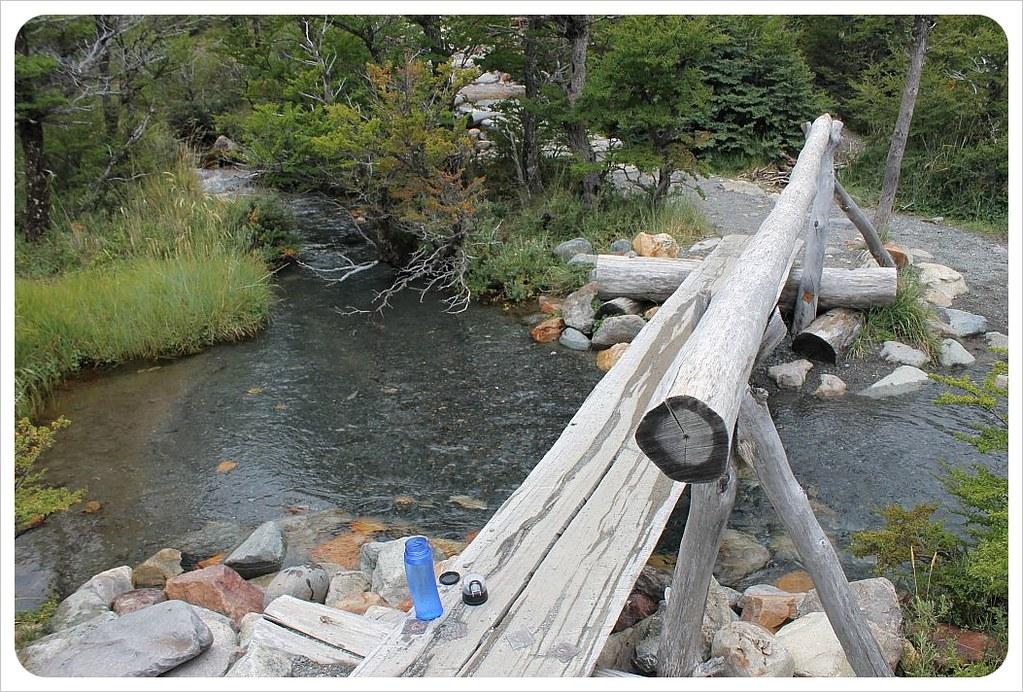 el chalten laguna torre hike stream