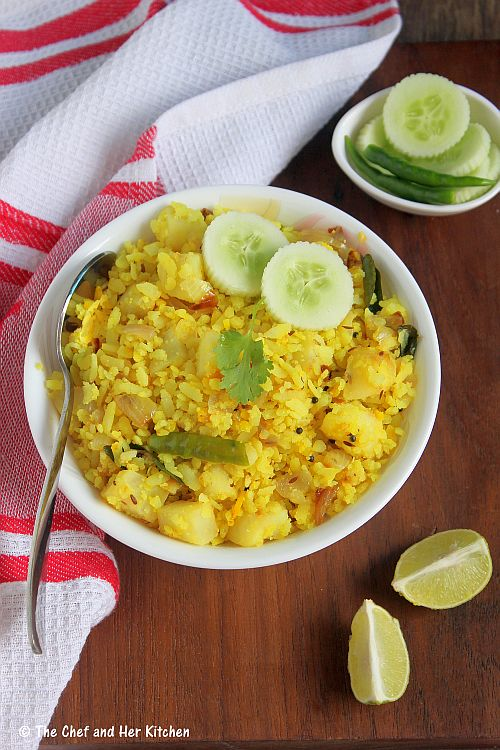 The Chef And Her Kitchen Batata Poha Kanda Batata Poha
