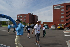 利尻島一周マラソンゴール!