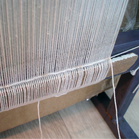 setting up the loom