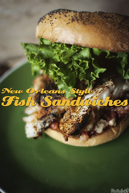 New Orleans Style Fish Sandwiches from GirlCarnivore.com