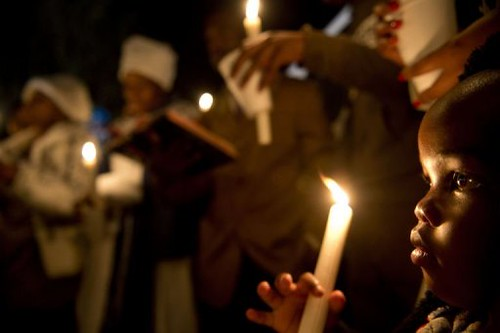 Vigil outside the hospital treating former South African President and African National Congress leader Nelson Mandela. He is hospitalized in Pretoria. by Pan-African News Wire File Photos