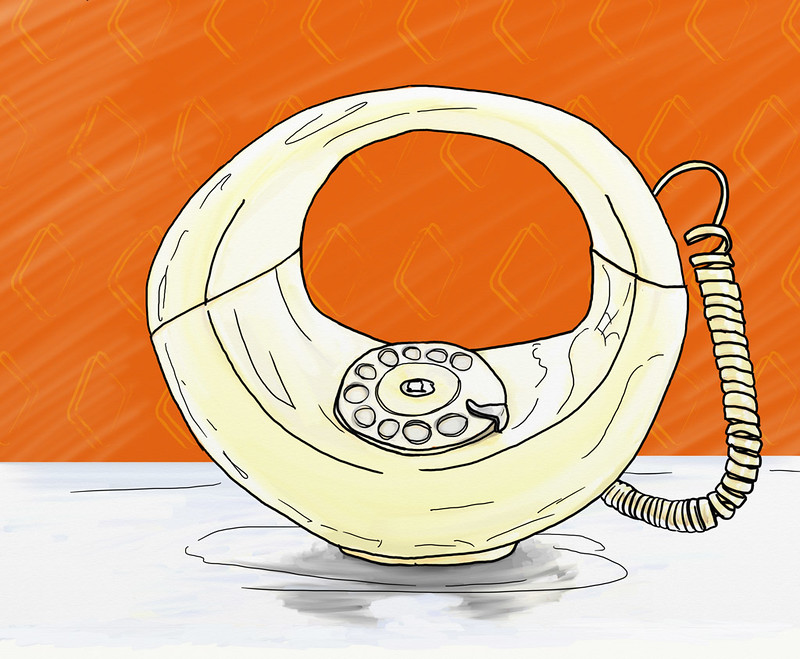 Swiss hoop phone