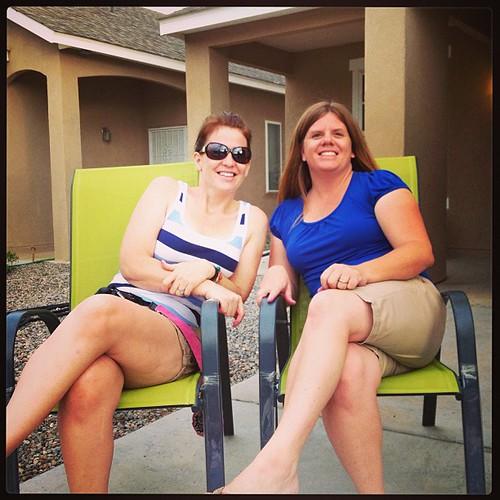 Patriotic sisters. Me + AJDB. #summer2013 #fourthofjuly
