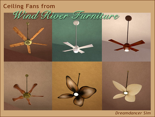 Ceiling Fans from Wind River by Teal Freenote