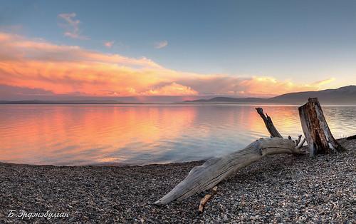 sunset sea lake beach nature beautiful landscape coast colorful mongolia huvsgul khuvsgul