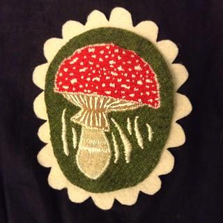 felt mushroom brooch