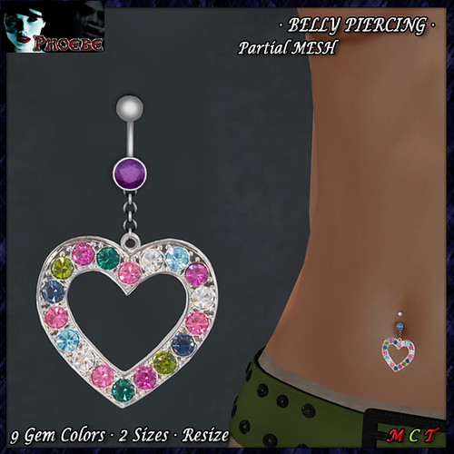*P* Summer Heart Belly Piercing GIFT!!!