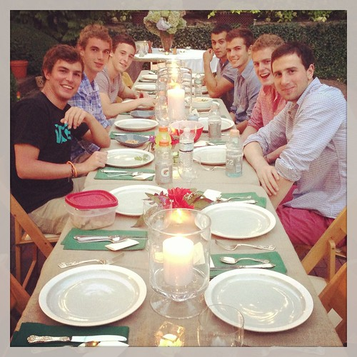 dinner party with Josh and his friends