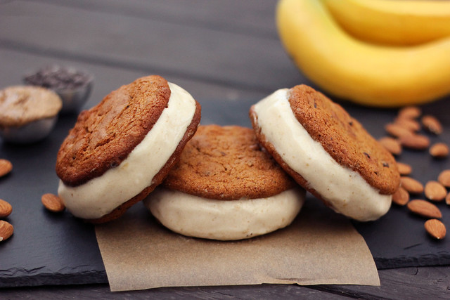 Grain-free Chocolate Chip Cookie Banana Ice Cream Sandwiches - Gluten ...