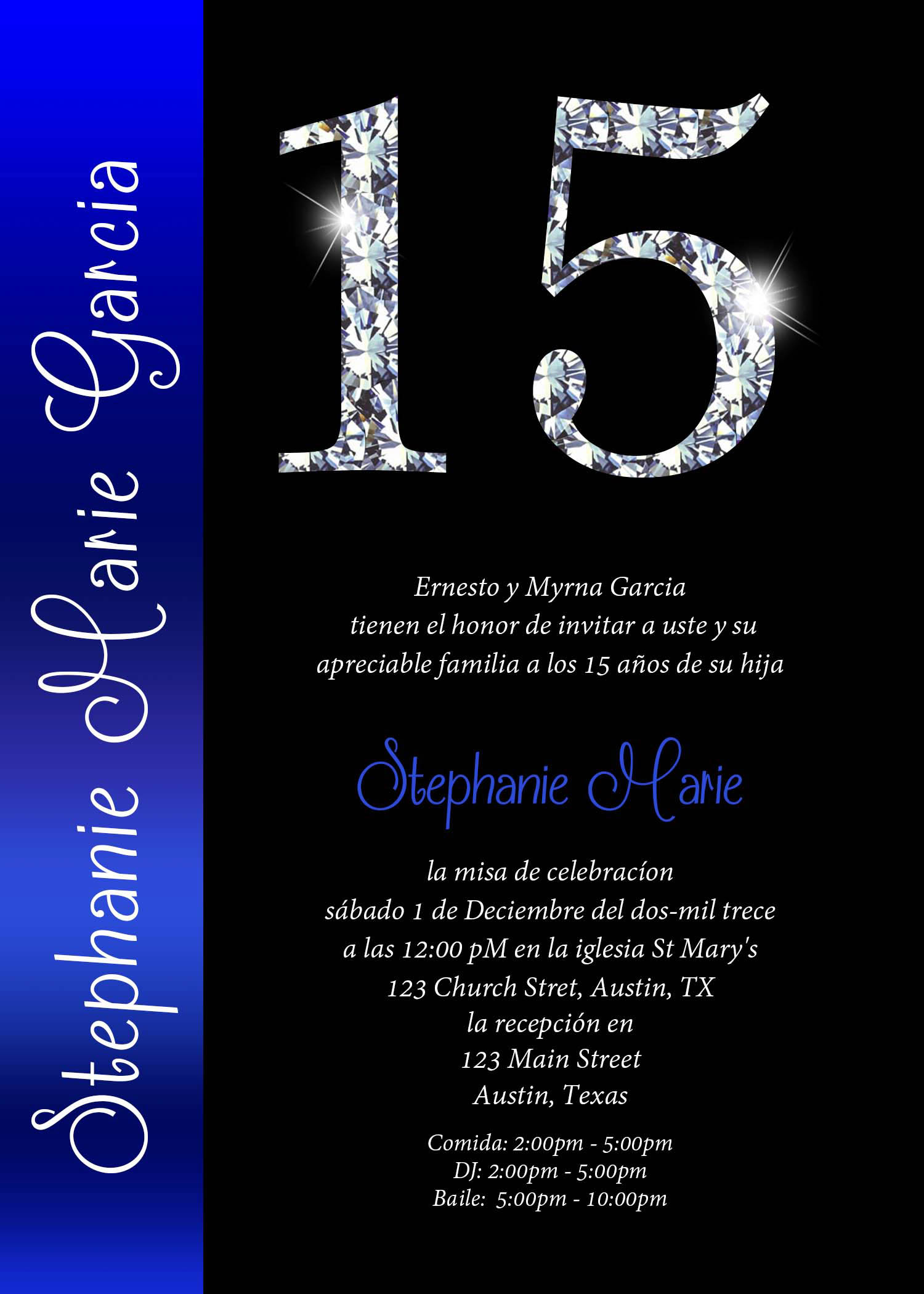 Invitations Quinceanera with nice invitations template