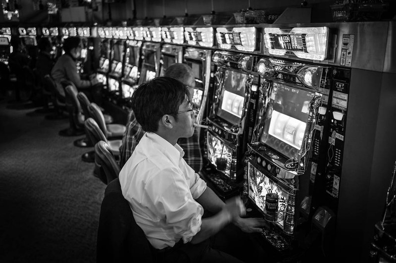Pachinko is a popular past time in Japan among the stressed out working adults, and teenagers too!