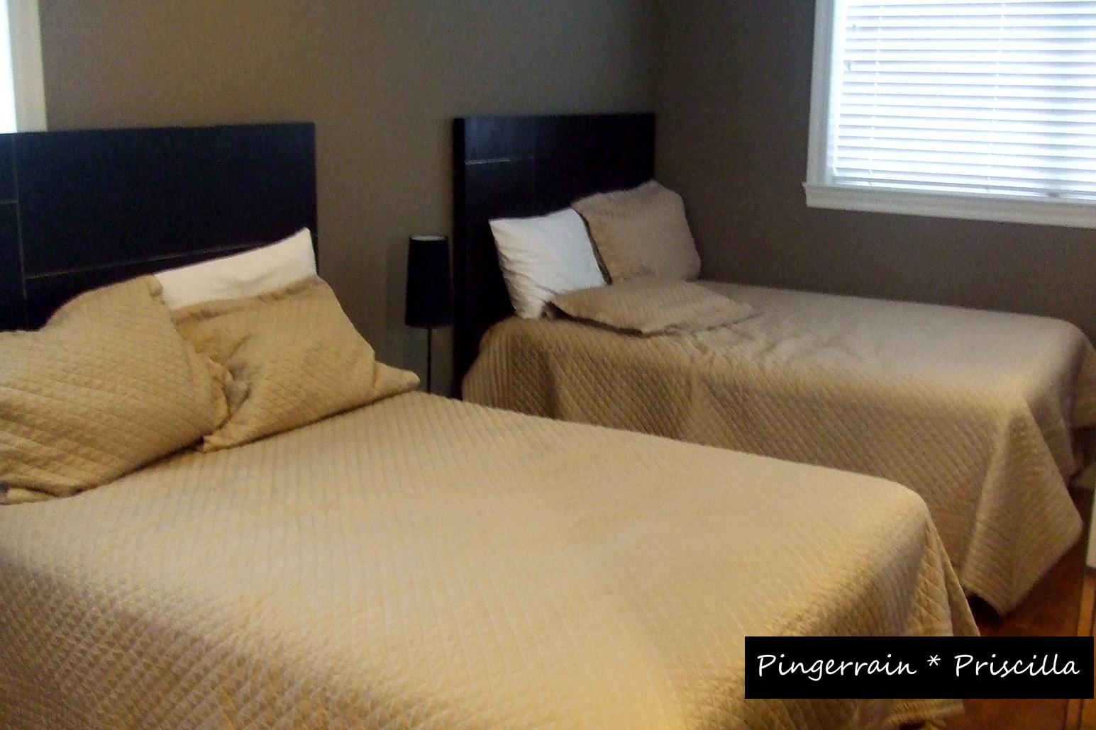 Double beds master bedroom