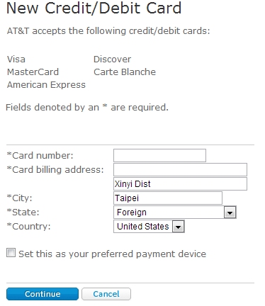 AT&T GoPhone New Card