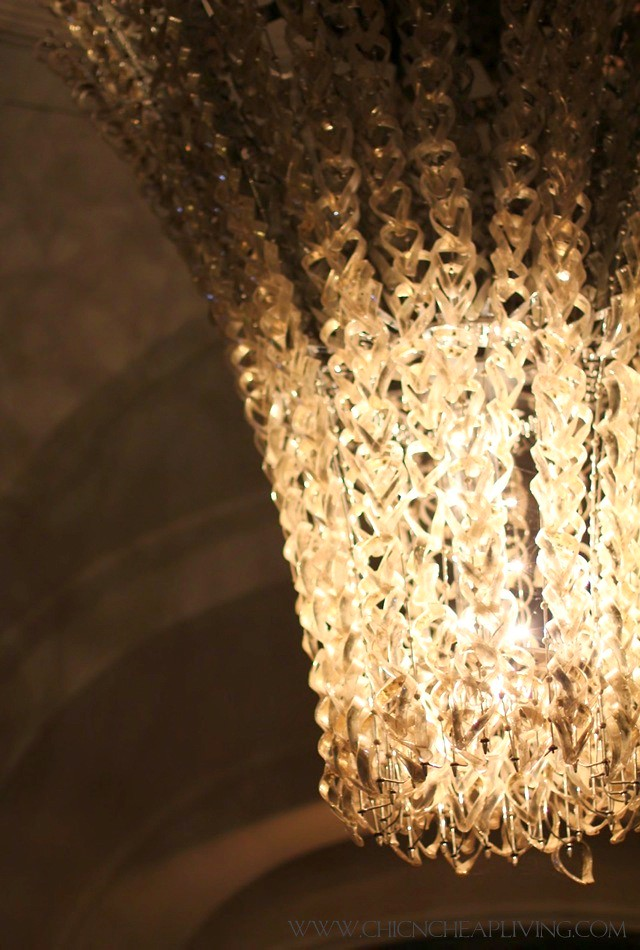Trianon Versailles Waldorf Astoria chandelier close up - by Chic n Cheap Living