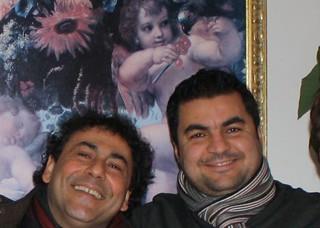 Gianpiero Mancini e Franco Frugis durante una festa anziani - Copia