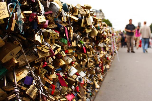 Lovers bridge Paris