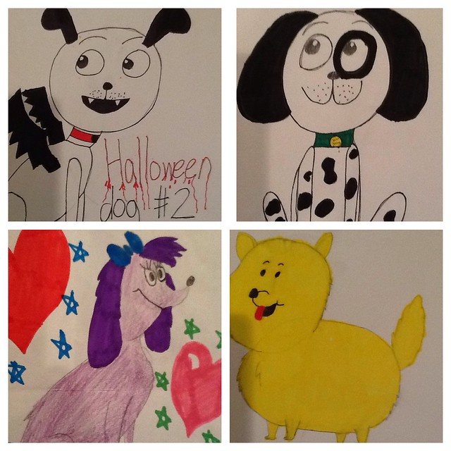 Recent Dog Drawings by Rachel Fryer (October 2013)