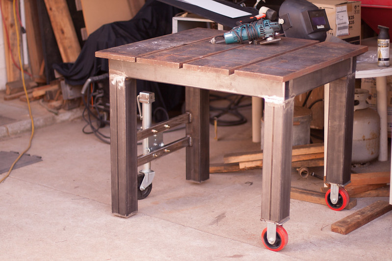 Welding table build thread yes another welding table for Plan fabrication table