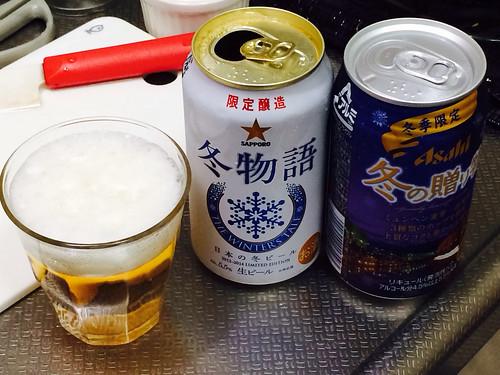 真夏日ですが冬のビール