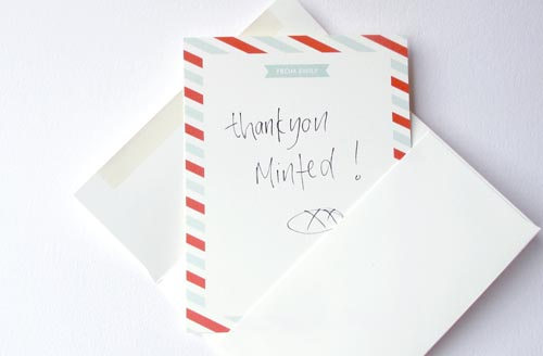 Thankyou Minted Stationery